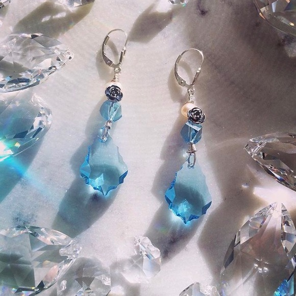 3 Graces Jewelry Jewelry - Handcrafted Bride to Be Something Blue Earrings
